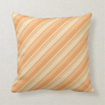 [ Thumbnail: Brown and Tan Colored Pattern of Stripes Pillow ]