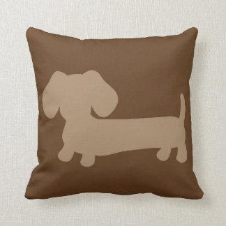 Brown and Tan Dachshund Pillow