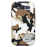 Brown and Tan Desert Military Camouflage Galaxy SIII Cases