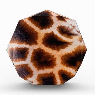 Brown and Tan Giraffe Fur Acrylic Award