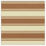 [ Thumbnail: Brown and Tan Lined Pattern Fabric ]