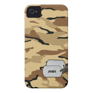 Brown and Tan Military Desert Camouflage Case-Mate iPhone 4 Case