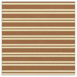 [ Thumbnail: Brown and Tan Pattern Fabric ]