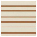 [ Thumbnail: Brown and Tan Pattern of Stripes Fabric ]