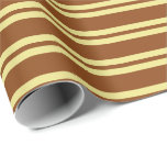 [ Thumbnail: Brown and Tan Pattern Wrapping Paper ]
