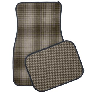 Brown and Tan Small Check Tailored Car Mats