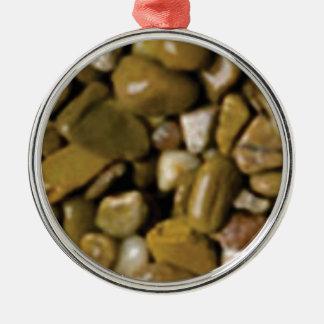 brown and tan stones metal ornament