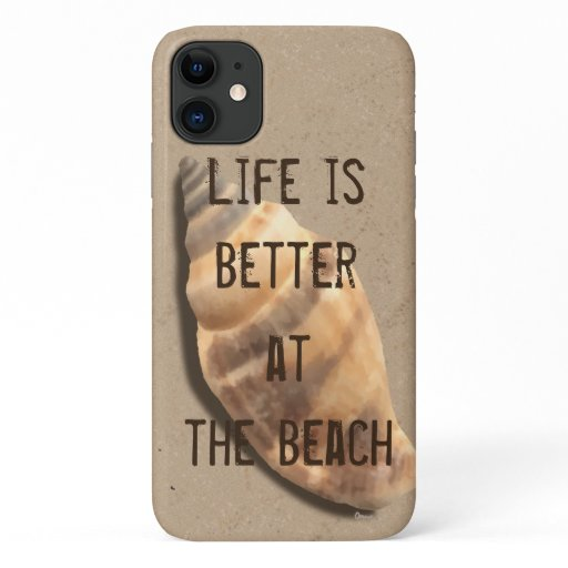 Brown and Tan Striped Conch Shell iPhone 11 Case