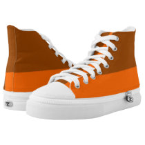 Brown and Tangerine Two-Tone Hi-Top