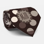 Brown and Taupe Polka Dot | Monogrammed Tie