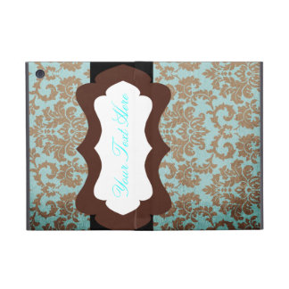 Brown and Teal Damask Mini iPad Cover