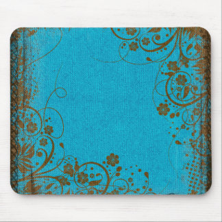 Brown And Teal Mouse Pad