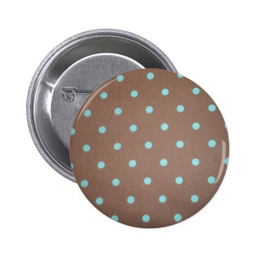 brown and teal polka dot buttons