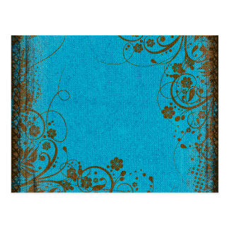 Brown And Teal Post Card
