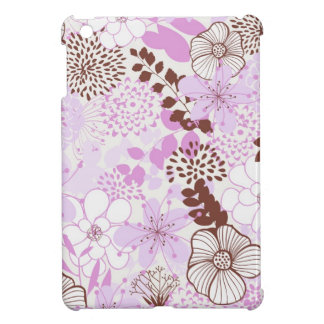 Brown and Violet Spring Garden Floral Pattern Case For The iPad Mini