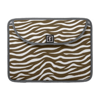 Brown and White Animal Print Zebra Stripes Sleeve For MacBook Pro