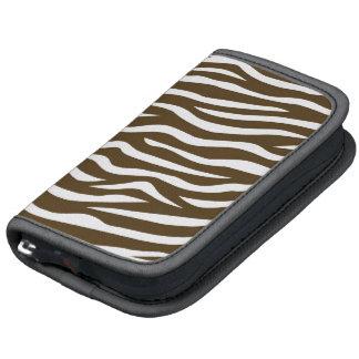 Brown and White Animal Print Zebra Stripes Folio Planner