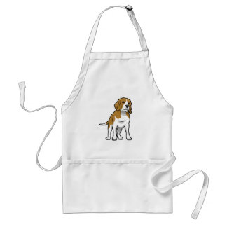 Brown and White Beagle Adult Apron
