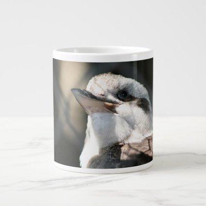 brown and white bird head view jumbo mugs