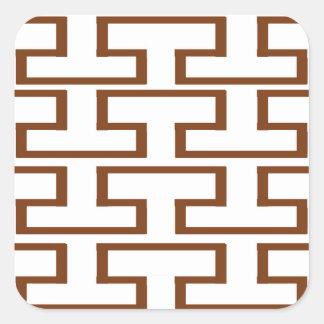 Brown and White Bricks Square Sticker