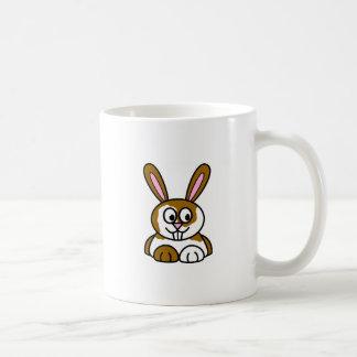 Brown and White Bunny Coffee Mug