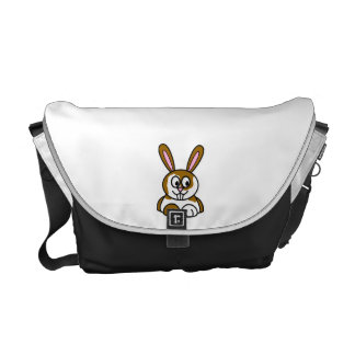 Brown and White Bunny Courier Bags