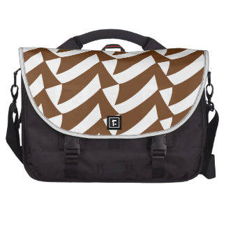 Brown and White Checks Bags For Laptop