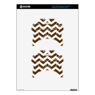 Brown And White Chevron Stripes Xbox 360 Controller Decal