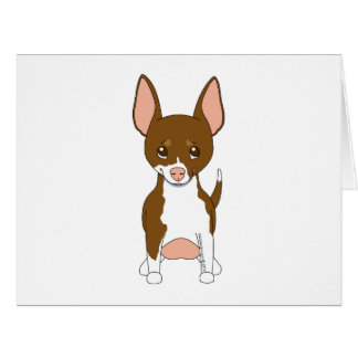 Brown and White Chihuahua Card