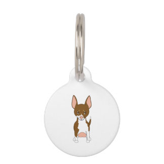 Brown and White Chihuahua Pet Tag