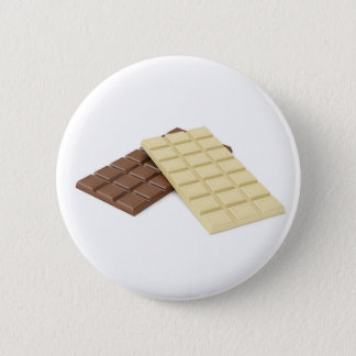 Brown and white chocolate bars pinback button