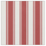 [ Thumbnail: Brown and White Colored Lined/Striped Pattern Fabric ]