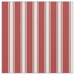 [ Thumbnail: Brown and White Colored Stripes/Lines Pattern Fabric ]