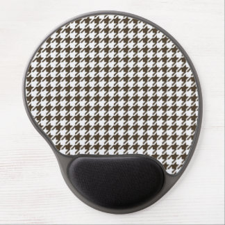 Brown And White Combination Houndstooth Gel Mouse Pad