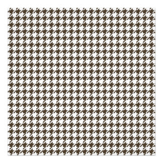 Brown And White Combination Houndstooth Photo Print