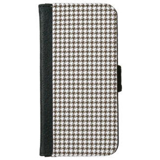 Brown And White Combination Houndstooth iPhone 6 Wallet Case