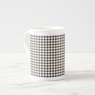 Brown And White Combination Houndstooth Tea Cup