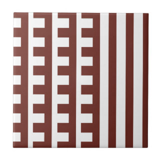 Brown and White Combs Tooth Tile