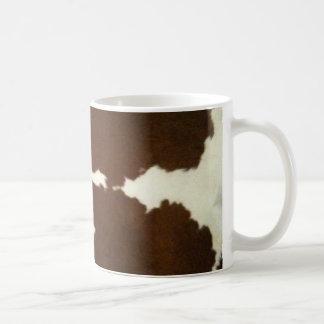 Brown and White Cowhide Western Mug