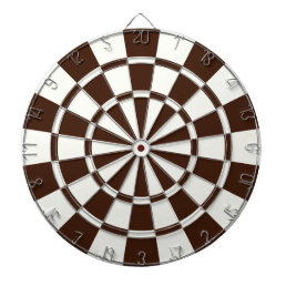 Brown And White Dart Board