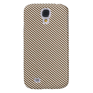 Brown and White Diagonal Stripes Galaxy S4 Case