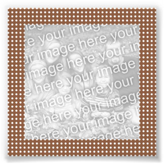 Brown and White Dots Frame Photo Photo Print