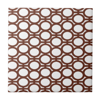 Brown and White Eyelets Tile