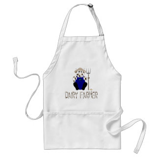 Brown And White Farmer Cow Brown White Dairy Farme Adult Apron