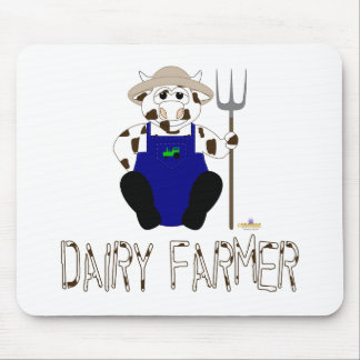 Brown And White Farmer Cow Brown White Dairy Farme Mouse Pad
