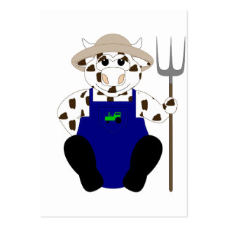 Brown And White Farmer Cow Business Card
