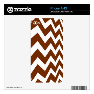 Brown and White Fast Lane Chevrons Decal For The iPhone 4S