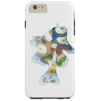 Brown and white Fish Watercolor Tough iPhone 6 Plus Case