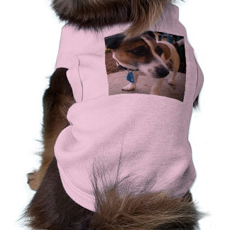 Brown_And_White_Fox_Terrier,_Pink_Ribbed_Pet_Coat Shirt