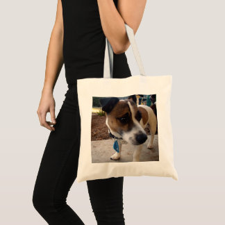 Brown And White Fox Terrier, Tote Bag
